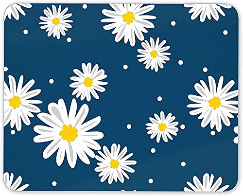 Pretty Daisy Flowers Mouse Mat Pad - Mum Sister Daughter Gift Computer