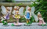 Zeagro Miniatura Paisaje Decoración Jardín Hadas Adornos Casa de Muñecas para Plantas Suculentas DIY Accesorios 4 Piezas