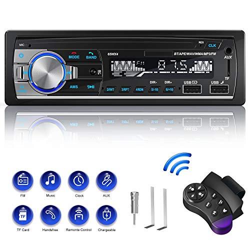 Autoradio Bluetooth, CENXINY Autoradio con Vivavoce Bluetooth Chiamate in vivavoce Telecomando Radio FM 4x65W Autoradio con lettore MP3 USB e Bluetooth 4.2, supporto telefono iOS e Android