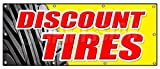 36'x96' Discount Tires Banner Sign Sale Installation Balance Alignment Service