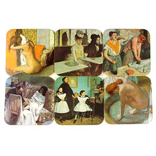 Souvenirs of France - 6 posavasos Edgar Degas.
