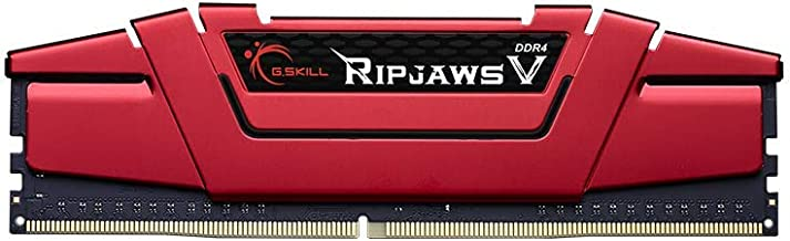 G.Skill (1x8GB) Ripjaws V Gaming Serisi 3000 MHz CL16 (16-18-18-38) Kırmızı Renkli Alüminyum Soğutuculu 1, 35V Bellek Modülü (F4-3000C16S-8GVRB)