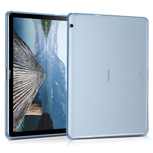 kwmobile Cover Compatibile con Huawei MediaPad T3 10 - Custodia Tablet in Silicone TPU - Copertina Protettiva - Cover Tablet Blu
