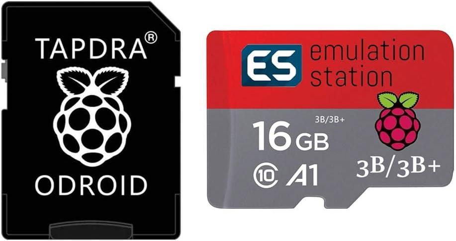 TAPDRA 16G RetroPie 11.000+ Juegos Tarjeta MicroSD para Raspberry Pi 2, 3 y 3B + Estacion de emulacion Multi Emuladores