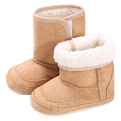 Babyschuhe 0-6 Monate für Mädchen und Jungen mit 100% Baumwolle von alimia. Baby Winter- und Sommer-Schuhe (0-6 Monate, Hellbraune Babyschuhe)