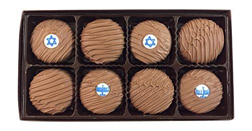 Philadelphia Candies Milk Chocolate Covered OREO Cookies, Hanukkah Menorah Star of David Jewish Gift