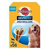 Pedigree Pack de Dentastix de uso Diario para la Limpieza Dental de Perros Grandes (56ud)