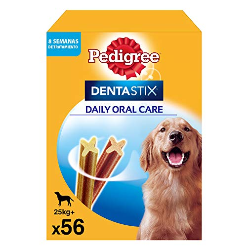Pedigree Dentastix Snack Dental para la Higiene Oral de Perros Grandes (1 Pack de 56ud)