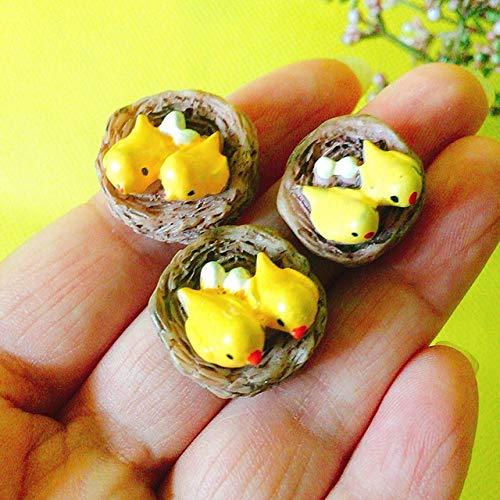 HONIC Traum Baby/kleine Rotwild/Miniaturen roter Pilz/schönes/Fee Gartenzwerg/Moos Terrarium Deko/Handwerk/Bonsai/DIY Puppenhaus/Modell: 3 Nester