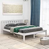 Vida Designs Milan King Size Bed, 5ft, Bed Frame, Solid Pine Wood, Headboard, Low Foot End, Bedroom Furniture, White