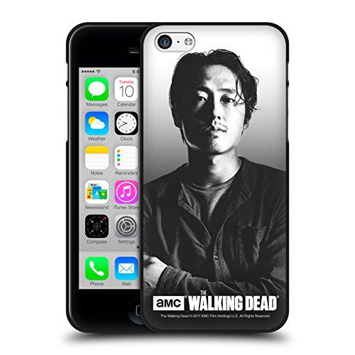Head Case Designs Oficial AMC The Walking Dead Glenn Retratos filtrados Funda de Gel Negro Compatible con Apple iPhone 5 / iPhone 5s / iPhone SE 2016