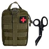 Krisvie Botiquín Médico Táctico EMT Botiquín de Primeros Auxilios, Botiquín Médico de Emergencia para la Familia, Camping al Aire Libre, Caza, Viajes o Deportes