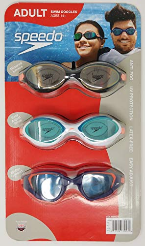Speedo Swim Goggles Adult 3Pack