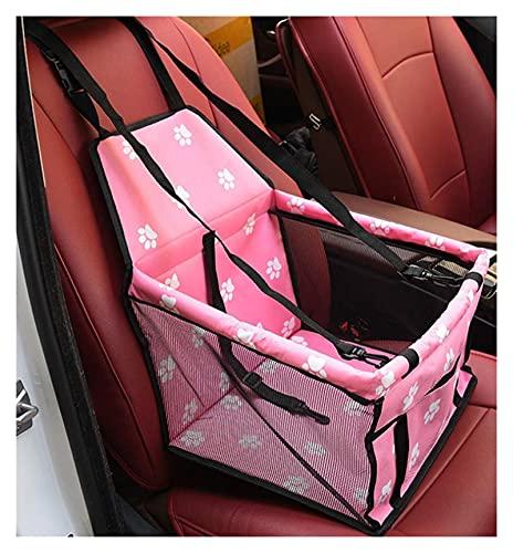 SGFEHAN Zaino per Animali Domestici PVC Pet Car Booster Seat Bag Seat Seat Cover Basket Mat Car Protector Puppy Box Box Borsa Dog Cat Pet Cassaforte Piegatura (Farbe : Pink)