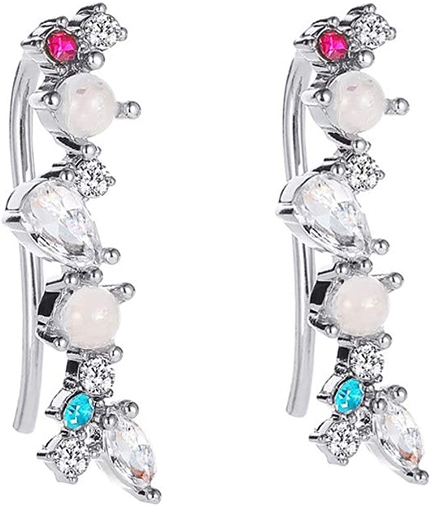 Pair Of Crystal Ear Cuffs Climber service Women Teen for Max 89% OFF Girls Earrings