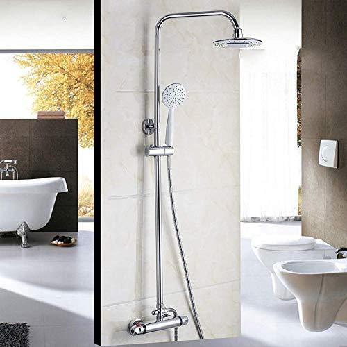 WEI-LUONG Baño Termostato de baño de 8 Pulgadas Cabezal de Ducha de Lluvia Bañera Grifo de la Ducha Grifo de la Ducha Ducha Ducha Sistema