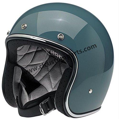 Casco Jet Biltwell Bonanza Helmet Gloss Agave brillante 2XL Agave