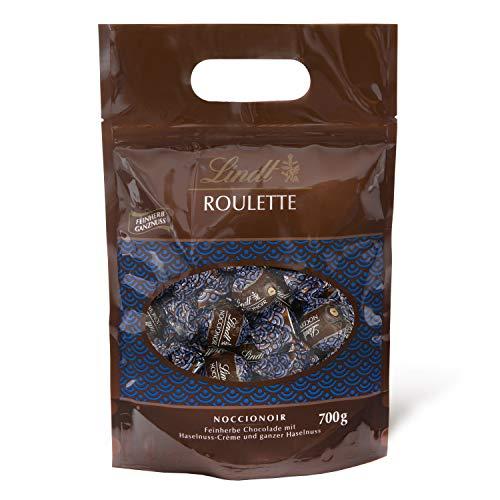 Lindt Noccionoir Beutel, feinherbe Schokolade mit Kakao Crème und ganzer Haselnuss, 700g