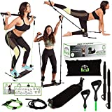 EXERCISE-BOARD: WORKOUT ANYWHERE, ANYTIME ! Home Workout Equipment for Women - Full Body Portable Gym Equipment - Booty Exercise Equipment with 2 Sets of Resistance Bands: More than 30 Exercises