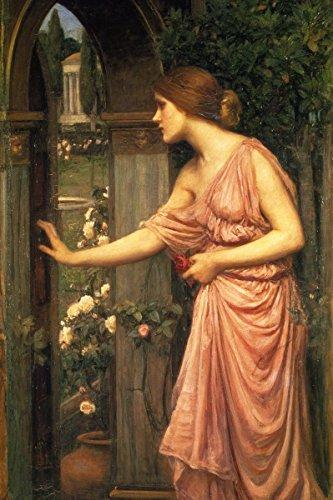 John William Waterhouse - Psyche Entering Cupids Garden, Size 24x36 inch, Poster Art Print Wall décor