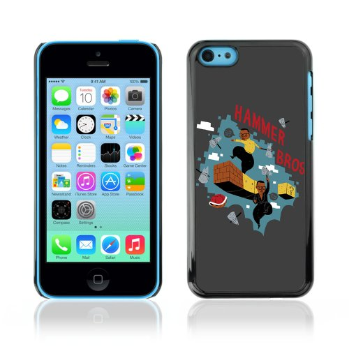 CelebrityCase Polycarbonate Hard Back Case Cover for Apple iPhone 5C ( Funny Mario MC Hammer )