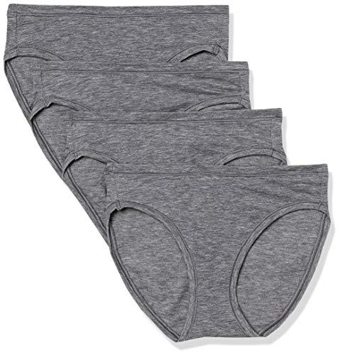 Amazon Essentials Women's Breathable Light-Weight Bikini Panty, Black, Large