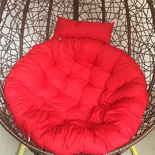 Cojín para silla Jklt para colgar, cojín de asiento grande, resistente al agua, para asiento oscilante, ligero y saludable (color: 1, tamaño: tamaño libre)
