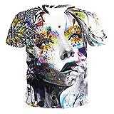 SSBZYES Camisetas para Hombres Camisetas Estampadas De Manga Corta para Hombres Camisetas Sin Cuello De Verano con Capucha Holgadas para Hombres Y Mujeres Mismo Párrafo Camisetas Informales Impresas