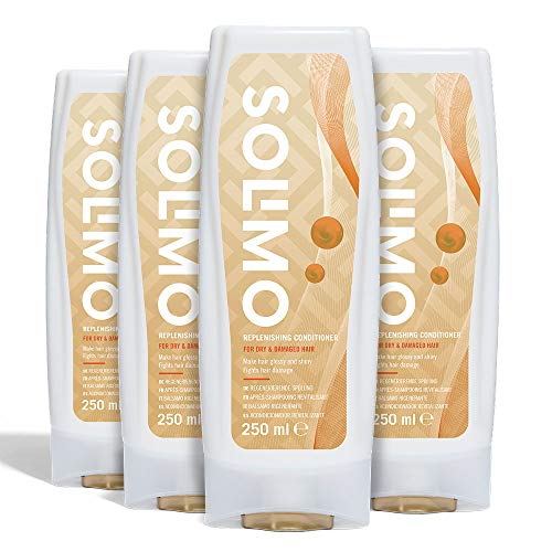 Amazon Brand - Solimo Replenishing Hair Conditioner For Dry & Damaged- Pack of 4 (4 bottles x 250ml)