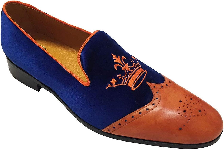 Garofalo Garofalo Garofalo Gianbatista herrar Loafer Flats blå blå  Arancio  första gången svara