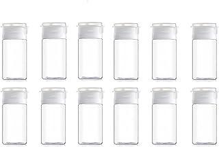 15ml透明プラスチック空のフリップリッドサンプルボトル再利用可能な容器ジャーポットバイアル旅行に適用(12個)
