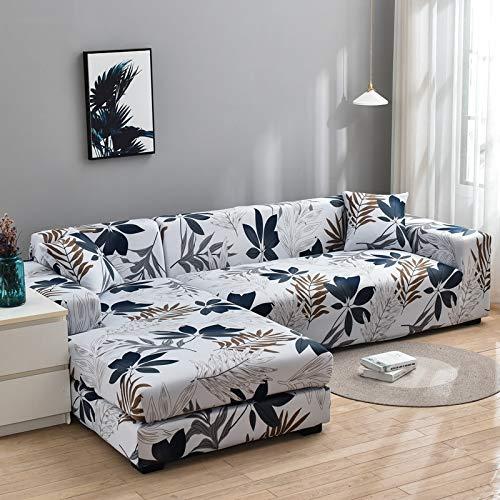 Funda de sofá en Forma de L Fundas elásticas Fundas de sofá elásticas para Sala de Estar Funda de sofá seccional Chaise Longue A19 3 plazas