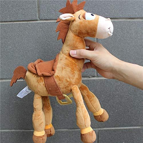 JIAL Plüschspielzeug 1 stück 35 cm = 13inch Plüsch Bullseye das Pferd Niedliches holziges Pferd für Kinder Geschenk Kinder Plüschspielzeug Baby Spielzeug Chongxiang