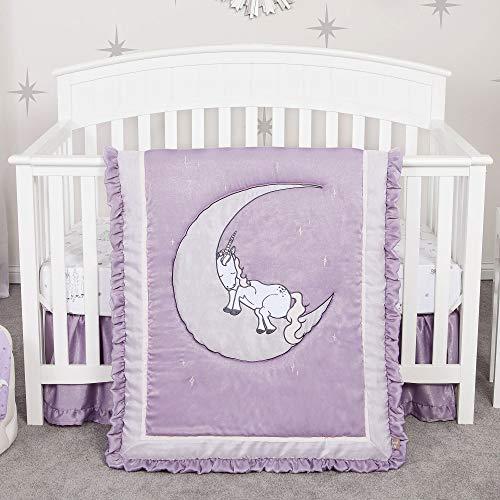 Unicorn Dreams Purple 4 Piece Baby Girl Crib Bedding Set