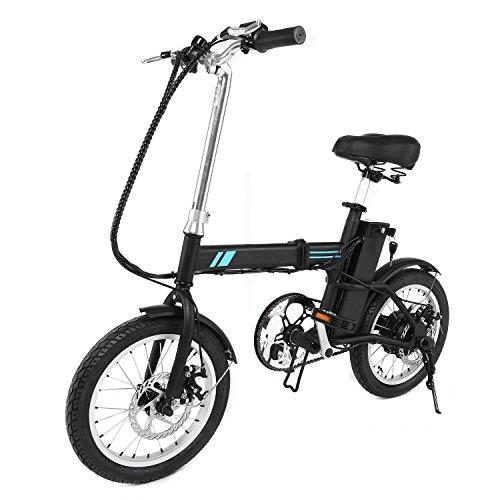 """begorey 16"""" Bicicletta Élettrica Pieghevole Élettrica Esterna di 36V 250W E-Bike con Il Telaio Pieghevole ed Il Display del Manubrio"""