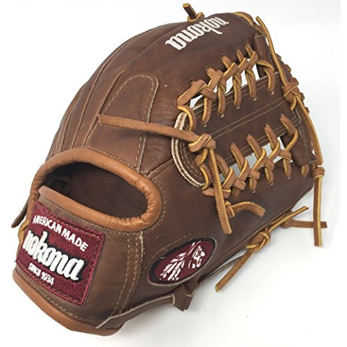 Nokona WB1150-M 11.5-Inch Modified Trap Web Walnut Leather Baseball Glove (Right-Handed Throw)