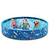 Dycsin - Piscina plegable de plástico duro de PVC para mascotas para perros grandes y niños al aire libre portátil plegable