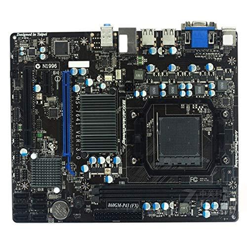 XCJ Placa Base Gaming ATX Placa Madre Original FIT FOR MSI 860GM-P43 (FX) Socket AM3 + DDR3 16GB 860GM-P43 760G Placa Base De Escritorio Placa Madre