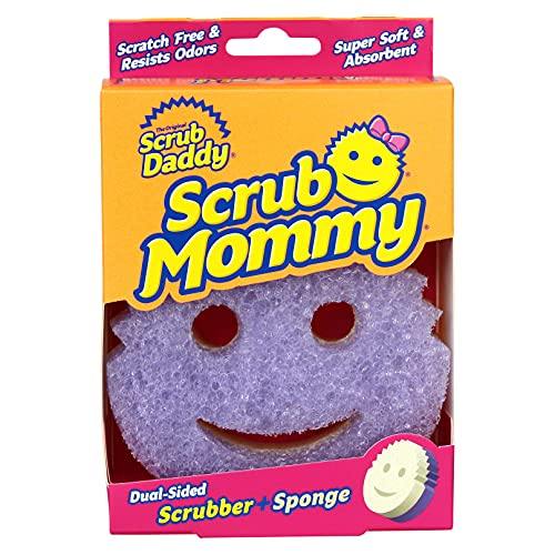 Scrub Daddy SMVI Dual Texture Changing Scrubber Kitchen Super Absorbent Sponge Side-Scrub Mommy (Violet)