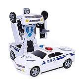 N\ A Transformer Toy Cars Auto-Deformation Robot Recargable Coche Set Cumpleaños Regalo Juegos Interiores para Niños De 3 Años Blanco
