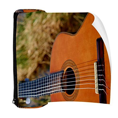 Estuche de instrumentos de cuerda para guitarra bolsa de lápiz bolsa linda pluma con cremallera bolsa para papelería viaje escuela estudiante suministros