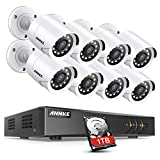ANNKE Kit de Seguridad CCTV 8CH 5MP DVR con 1TB Disco Duro de Vigilancia Onvif H.265 + 8 1080P Cámaras Sistema de Videovigilancia IP66 Impermeable - 1TB HDD