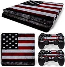 DAPANZ American Flag Vinyl Skin Sticker Decal Cover for Sony Playstation 4 Slim Console and DualShock 4 Controller Skin
