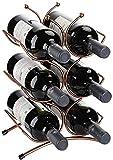 XHCP Casier à vin comptoir étagère de Stockage de vin Support de vin pour Armoire de Cuisine Tenir 6 Bouteilles de vin en métal