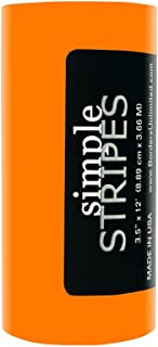 Borders Unlimited Orange Spirit Simple Stripes