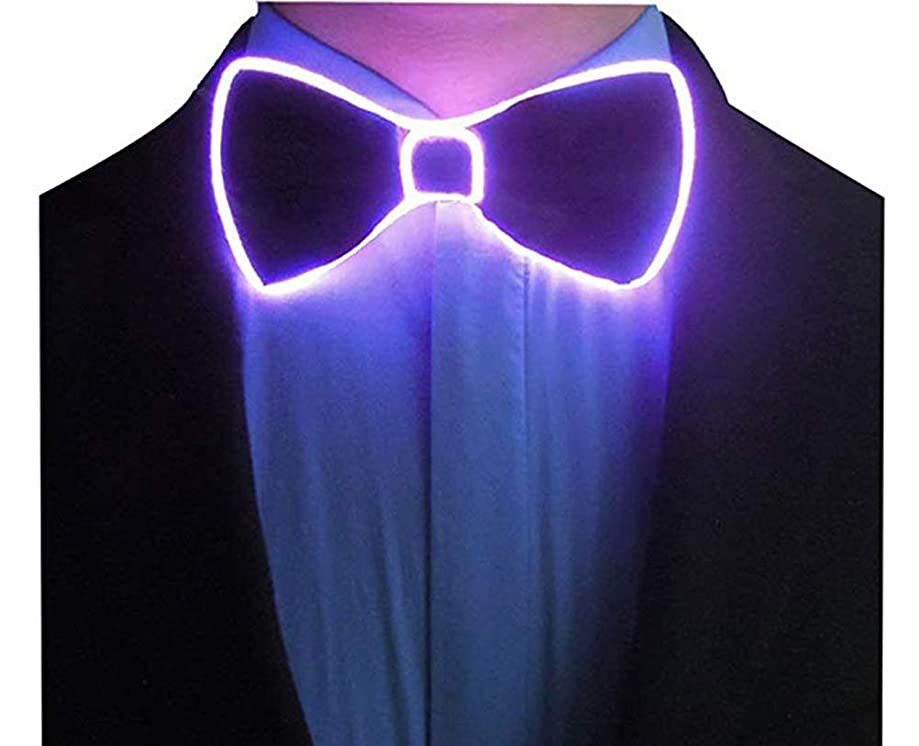 Sunny Hill New Fashion Light 4 Color Light Up LED Bow Tie glowing wire Bow Tie For DJ,bar,club and Evening Party Decoration