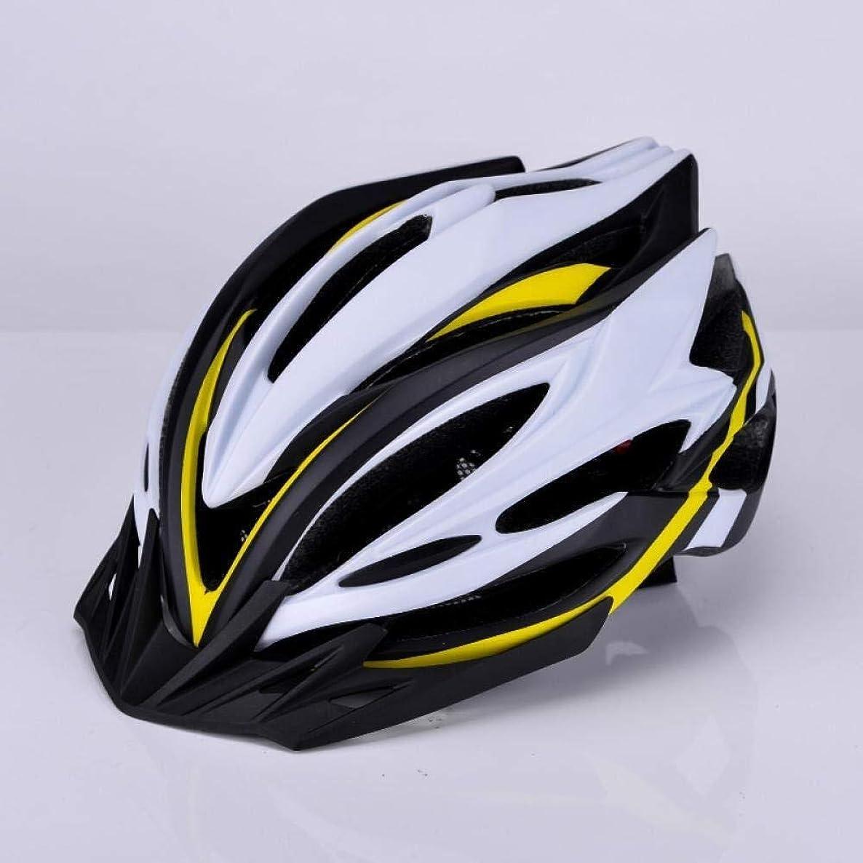 ラッドヤードキップリング両方データ自転車用ヘルメット 黄、白、黒の頭囲に乗??って自転車ヘルメット乗馬ヘルメットマウンテンバイク自転車用ヘルメットの男性と女性 サイクリングでの生活のための最も強固な防護壁。 (Color : Yellow white black, Size :...