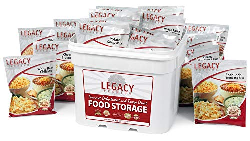 Long Term Dehydrated Food Storage - 120 Large Entree Servings - 29 Lbs- Disaster Prepper Freeze Dried Supply Kit - Individual Emergency Survival Meals