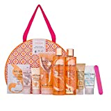 Sanctuary Spa Gift Set, Signature Showstopper Gift for Women with Shower Gel, Body Scrub, Body Lotion, Bubble Bath, Face Wash, Hand Cream and Foot Cream, Gifts for Her, Pamper Gift Set for Women