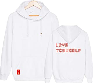 Kpop BTS World Tour Love Yourself Sweater Jungkook Suga Jimin V Hoodie Jacket